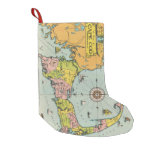 Vintage Map of Cape Cod Small Christmas Stocking