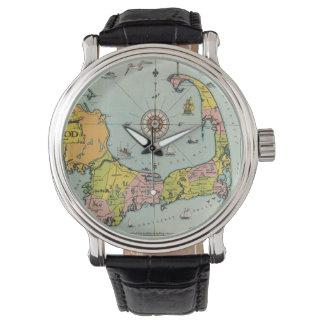 Vintage Map of Cape Cod Wristwatch