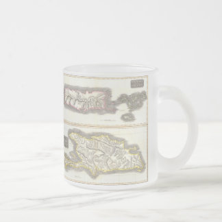 Vintage Map of Caribbean Islands (1815) 10 Oz Frosted Glass Coffee Mug