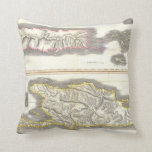 Vintage Map of Caribbean Islands (1815) Pillows