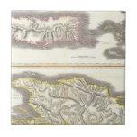 Vintage Map of Caribbean Islands (1815) Ceramic Tile