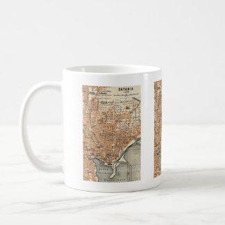 Vintage Map of Catania Italy (1905) Mug