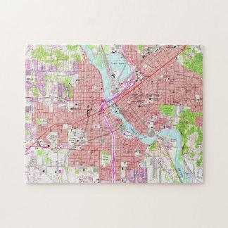 Vintage Map of Cedar Rapids Iowa (1967) Jigsaw Puzzle