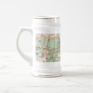 Vintage Map of Central Park (1860) 18 Oz Beer Stein