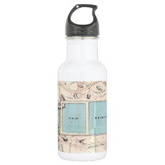 Vintage Map of Central Park (1860) 18oz Water Bottle