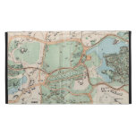 Vintage Map of Central Park (1860) iPad Folio Cover