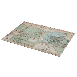 Vintage Map of Central Park (1860) Cutting Board