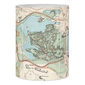 Vintage Map of Central Park (1860) Flameless Candle