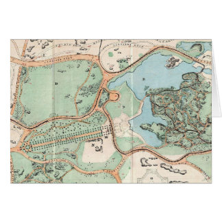 Vintage Map of Central Park (1860) Greeting Card