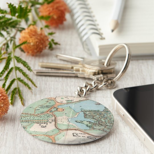 Vintage Map of Central Park (1860) Keychain