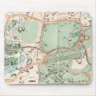 Vintage Map of Central Park (1860) Mouse Pad