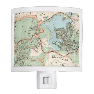 Vintage Map of Central Park (1860) Night Lite