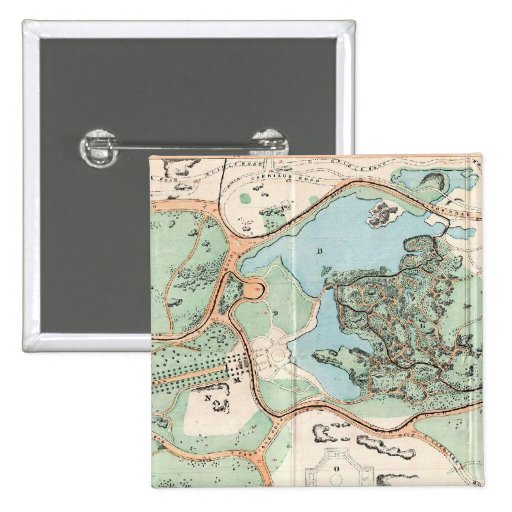 Vintage Map of Central Park (1860) Pin