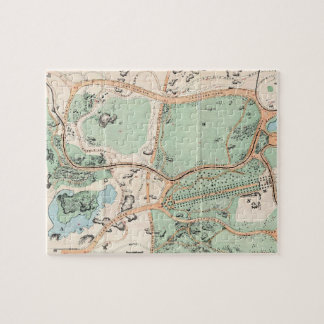 Vintage Map of Central Park (1860) Puzzles