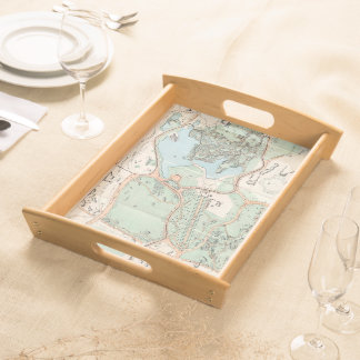 Vintage Map of Central Park (1860) Service Tray