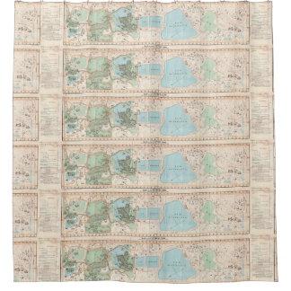 Vintage Map of Central Park (1860) Shower Curtain