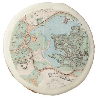 Vintage Map of Central Park (1860) Sugar Cookie