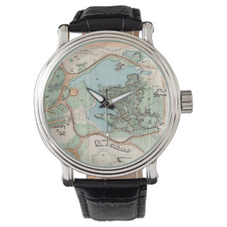 Vintage Map of Central Park (1860) Watch