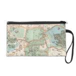 Vintage Map of Central Park (1860) Wristlet Purses