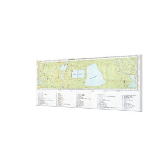 Vintage Map of Central Park NYC (1866) Canvas Print