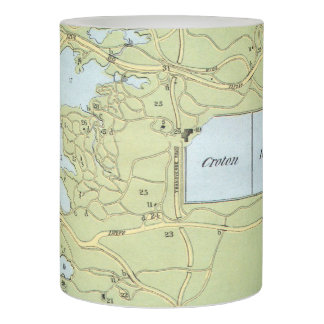 Vintage Map of Central Park NYC (1866) Flameless Candle