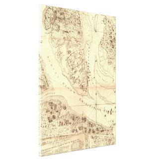 Vintage Map of Charleston South Carolina (1780) Canvas Print