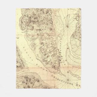 Vintage Map of Charleston South Carolina (1780) Fleece Blanket