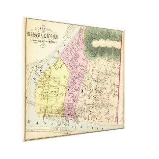 Vintage Map of Charleston West Virginia (1873) Canvas Print