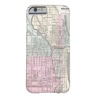 Vintage Map of Chicago (1855) Barely There iPhone 6 Case
