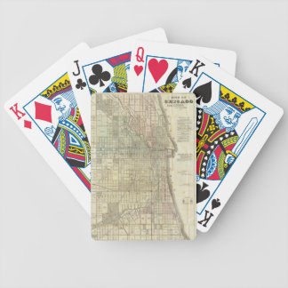 Vintage Map of Chicago (1857) Bicycle Playing Cards