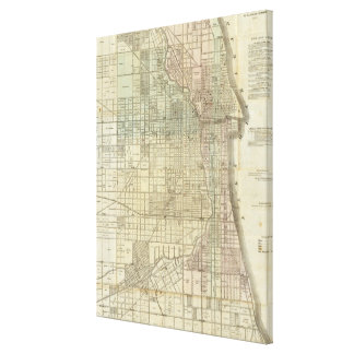 Vintage Map of Chicago (1857) Canvas Print
