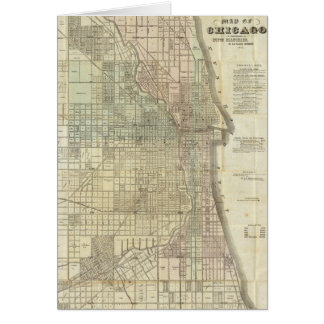Vintage Map of Chicago (1857) Card