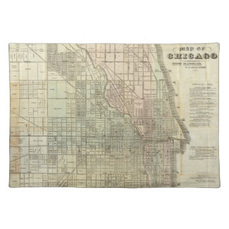 Vintage Map of Chicago (1857) Cloth Placemat