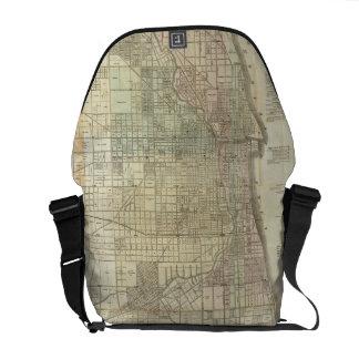 Vintage Map of Chicago (1857) Courier Bag