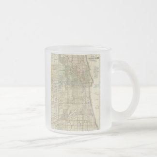 Vintage Map of Chicago (1857) Frosted Glass Coffee Mug