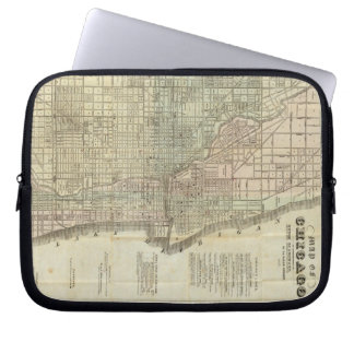 Vintage Map of Chicago (1857) Laptop Sleeve