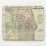 Vintage Map of Chicago (1857) Mouse Pads
