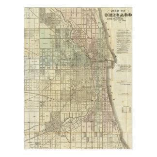 Vintage Map of Chicago (1857) Postcard