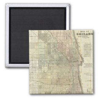 Vintage Map of Chicago (1857) Refrigerator Magnets