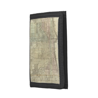 Vintage Map of Chicago (1857) Wallets