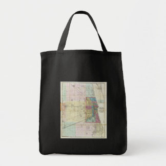 Vintage Map of Chicago (1869) Bags