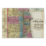Vintage Map of Chicago (1869) Card