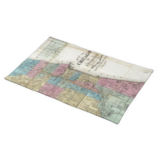 Vintage Map of Chicago (1869) Cloth Placemat