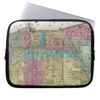 Vintage Map of Chicago (1869) Computer Sleeve