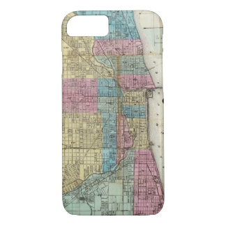 Vintage Map of Chicago (1869) iPhone 8/7 Case
