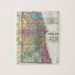 """Vintage Map of Chicago (1869) Jigsaw Puzzle<br><div class=""""desc"""">This is a vintage map of Chicago produced in 1869.</div>"""
