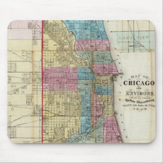 Vintage Map of Chicago (1869) Mouse Pad
