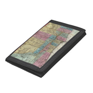 Vintage Map of Chicago (1869) Wallets