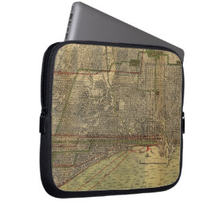 Vintage Map of Chicago (1892) Laptop Sleeve