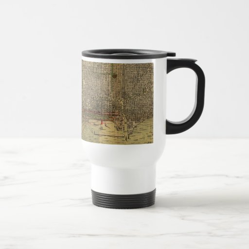 Vintage Map of Chicago (1892) 15 Oz Stainless Steel Travel Mug